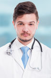 Portrait of a confident and serious male doctor Royalty Free Stock Photo