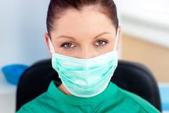 Portrait of a confident surgeon in her office Stock Photos