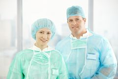 Portrait of confident surgeons Stock Image