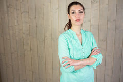Portrait of confident woman with arms crossed Royalty Free Stock Photography