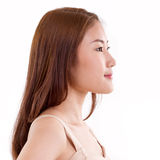Portrait of confident woman. White isolated background Royalty Free Stock Photo