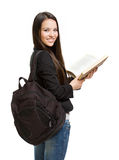 Confident young brunette student. Stock Photo