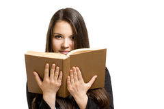 Confident young brunette student. Stock Images