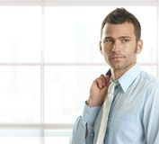 Portrait of confident young businessman Royalty Free Stock Photos