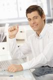 Portrait of confident young businessman Stock Photography