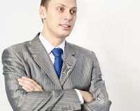 Portrait of a confident young businessman Stock Image