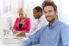 Portrait of confident young businessman Royalty Free Stock Image