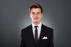 Portrait of confident young businessman Stock Photo