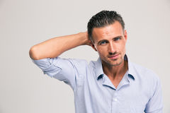 Portrait of a confident young businessman Stock Photography