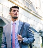 Portrait of a confident young businessman Stock Images