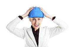 Portrait of confident young female architect standing Stock Image