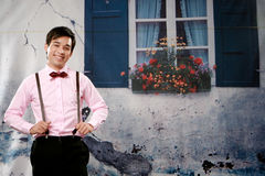 Portrait of confident young man smiling to you Royalty Free Stock Images