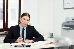Portrait of Confident Young Manager Stock Images