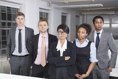 Portrait of confident young multiethnic business group at office Stock Images