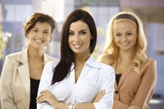 Portrait of confident businesswoman outdoors Stock Images
