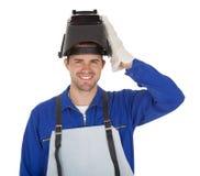 Portrait of confident young welder Stock Photo