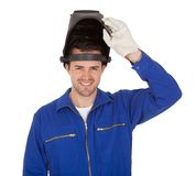 Portrait of confident young welder Stock Image