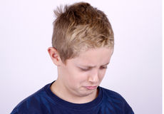 Portrait of Confused Boy Stock Photos