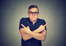 Portrait of confused young man royalty free stock images