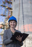 A portrait of a construction engineer royalty free stock photography