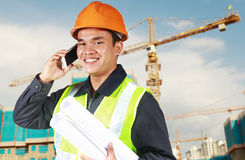 Portrait of an construction engineer Stock Images