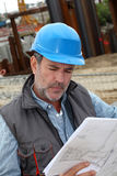 Portrait of construction manager on building site Stock Photography