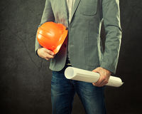 Portrait of construction master Royalty Free Stock Image