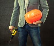 Portrait of construction master Stock Photos
