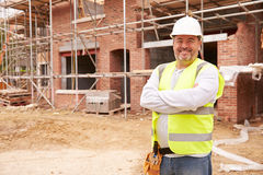 Portrait Of Construction Worker On Building Site Stock Images