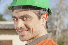 Portrait of a construction worker Royalty Free Stock Image