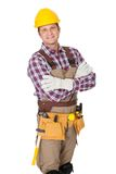 Portrait of construction worker Royalty Free Stock Photos