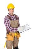 Portrait of construction worker Stock Photos