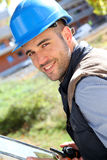 Portrait of constuction manager at work Royalty Free Stock Photos