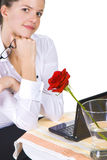 Portrait of a contemplative business woman Stock Image