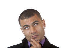 Portrait of contemplative Businessman Stock Photo