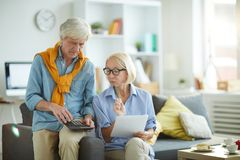 Adult Couple Calculating Budget royalty free stock photo