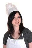 Portrait of a cook girl. Stock Photos