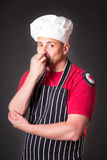 Portrait of a cook man in the studio Stock Image