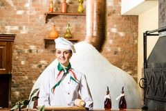 Portrait of a cook Stock Images