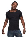 Cool African American Man in Blue Jeans royalty free stock image