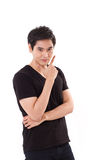 Portrait of cool asian man Royalty Free Stock Photography
