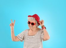 Portrait of cool grandmother stock photography