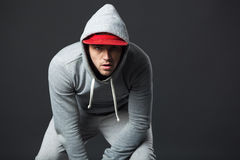 Portrait of cool looking young guy in sportswear. Stock Image