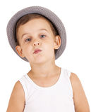 Portrait of cool pretty stylish little boy Royalty Free Stock Photos
