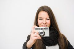 Fashionable young artist. Royalty Free Stock Photography