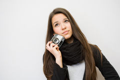 Fashionable young artist. Stock Photo