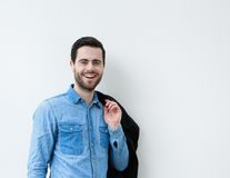 Portrait of a cool young man smiling Royalty Free Stock Photo