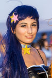 Portrait in cosplay costume. QUARTU S.E., ITALY - JULY 30, 2017: Beach Cosplay Party at the Altamarea kiosk - waterfront  Poetto -Sardegna Royalty Free Stock Photography