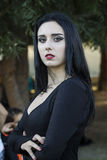 Portrait in cosplay costume. SELARGIUS, ITALY - OCTOBER 19, 2014: The Cosplay Garden - 2nd Edition - Sardinia Stock Photos