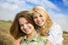 Portrait of country girls Stock Photos